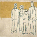 Family values. 2003 affresco su juta 60x80