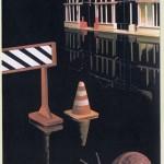 J&Peg Stop and go...ogle - tecnica mista su pvc - cm 150 x 100
