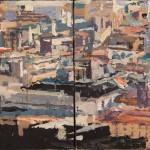 Velasco Vitali Domino olio su tavola cm 10x20 2011